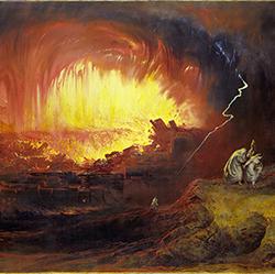 Die Zerstörung von Sodom und Gomorra (Gemälde von John Martin), 1852